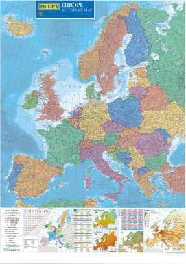 Philip's Europe Wall Map