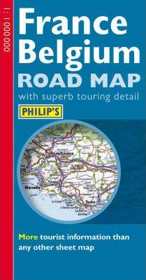 Philip's Road Map of France and Belgium