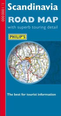 Philip's Road Map Europe Scandinavia