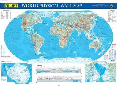 Philip's World Physical Map