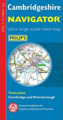 Philip's Navigator Road Map Cambridgeshire