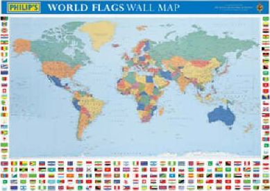 Philip's World Flags Wall Map