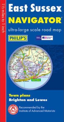 Philip's Navigator Road Map East Sussex