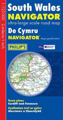 South Wales Navigator Ultra-Large Scale Road Map: Town Plans - Cardiff & Swansea