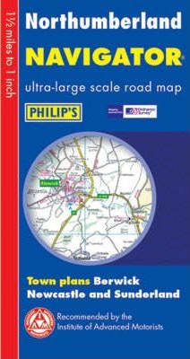 Philip's Navigator Road Map Northumberland