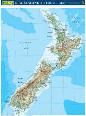 Philip's Reference Map: New Zealand