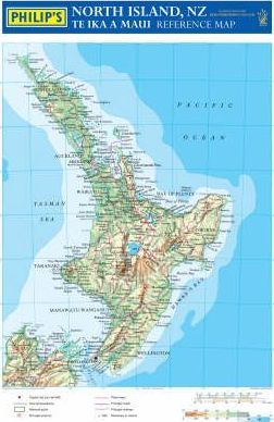 Philip's Reference Map: New Zealand North Island