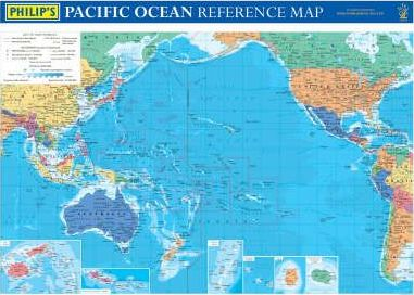 Philip's Pacific Ocean Reference Map