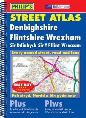 Philip's Street Atlas Denbighshire, Flintshire and Wrexham