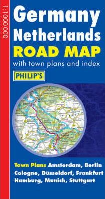 Germany Netherlands Road Map