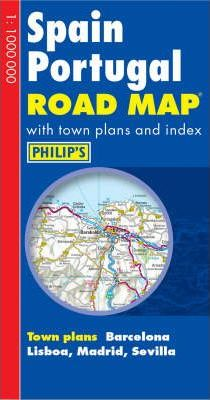 Philip's Road Map Europe Spain/Portugal