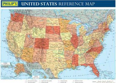 Philip's Reference Map: United States