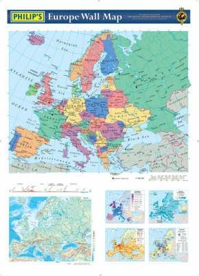 Philip's Europe Wall Map: political/physical