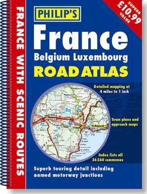 France Belguim Luxembourg Road Atlas