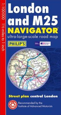 London and M25 Navigator Map