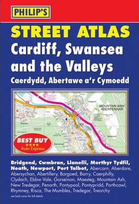 Philip's Street Atlas Cardiff, Swansea and the Valleys
