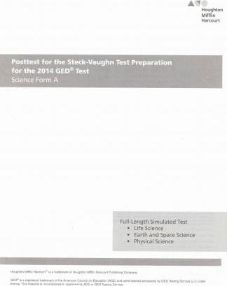 Steck Vaughn GED Posttest for Science Form a