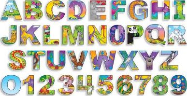 Illustrated Alphabet & Numbers Bulletin Board