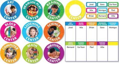 Classroom Center Signs Bulletin Board Set