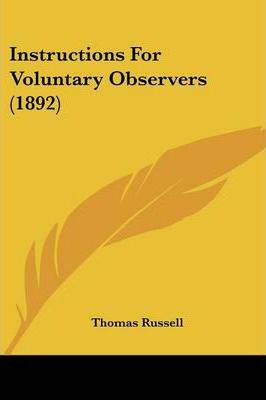 Instructions for Voluntary Observers (1892)