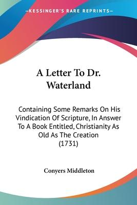 A Letter To Dr. Waterland Cover Image