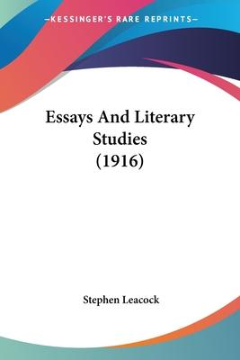 Essays and Literary Studies (1916)