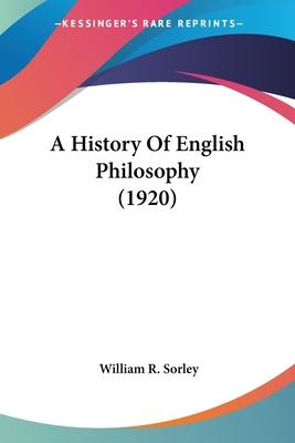 A History of English Philosophy (1920)