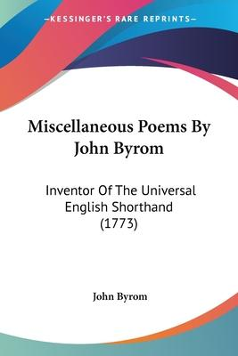 Miscellaneous Poems by John Byrom