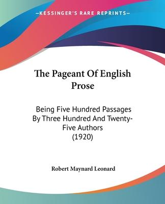 The Pageant of English Prose