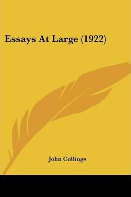 Essays at Large (1922)