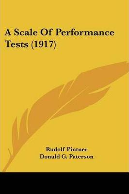 A Scale of Performance Tests (1917)