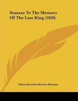 Stanzas to the Memory of the Late King (1820)
