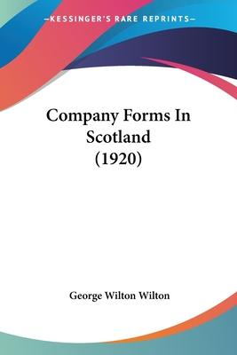 Company Forms in Scotland (1920)