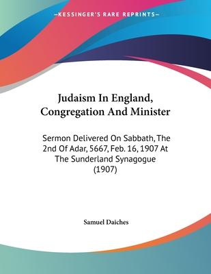 Judaism in England, Congregation and Minister