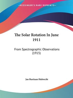 The Solar Rotation in June 1911