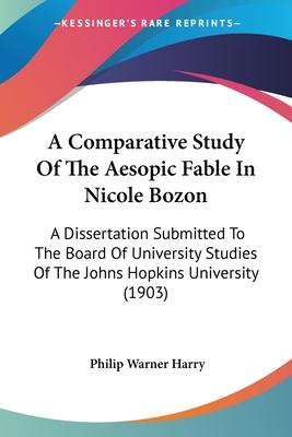 A Comparative Study of the Aesopic Fable in Nicole Bozon