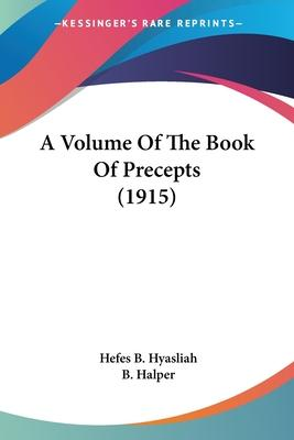 A Volume of the Book of Precepts (1915)