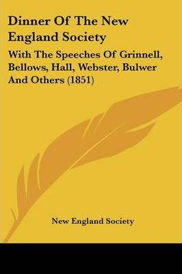 Dinner of the New England Society