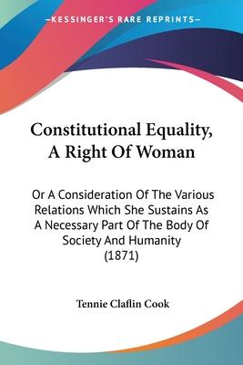 Constitutional Equality, a Right of Woman