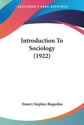 Introduction to Sociology (1922)