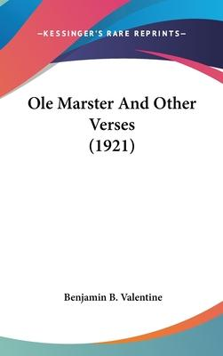 OLE Marster and Other Verses (1921)