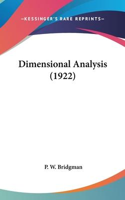 Dimensional Analysis (1922)