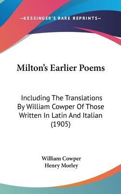 Milton's Earlier Poems