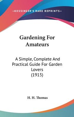 Gardening for Amateurs