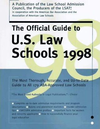1998 Official Guide to U.S. Law Schools