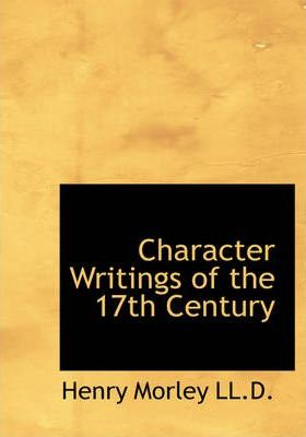 Character Writings of the 17th Century Cover Image