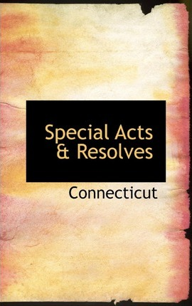 Special Acts a Resolves