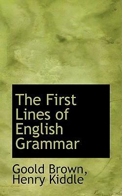 The First Lines of English Grammar