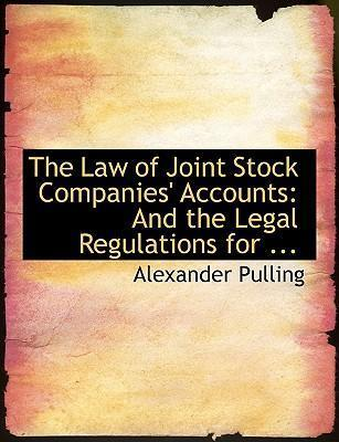 The Law of Joint Stock Companies' Accounts