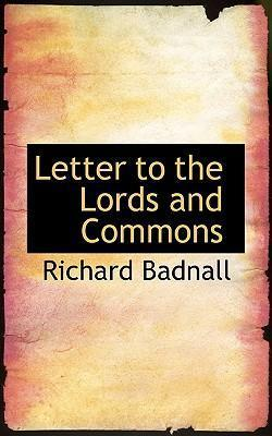 Letter to the Lords and Commons